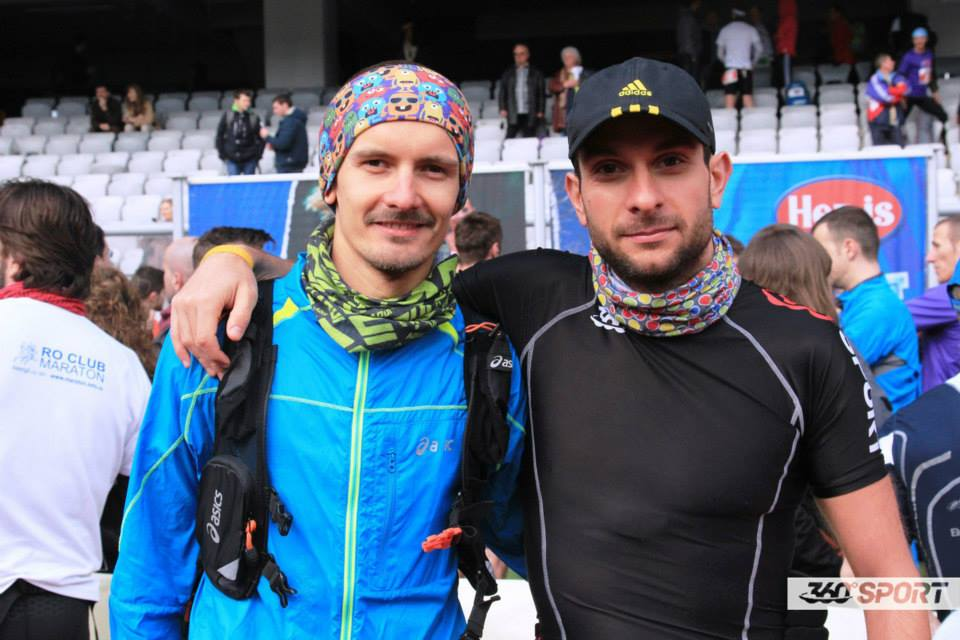 Catalin and Tudor in the race morning