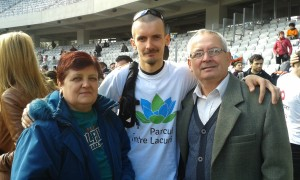 Catalin and his parents, Elena and Stefan